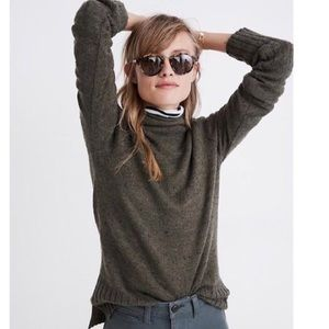 Madewell Inland turtleneck olive green classic xs